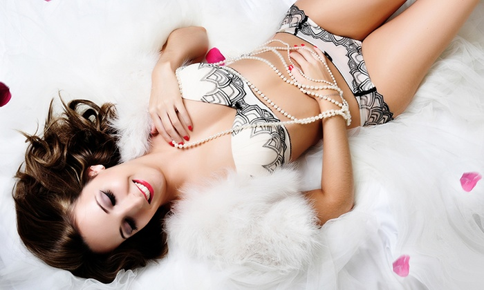 cool girl in gorgeous lingerie