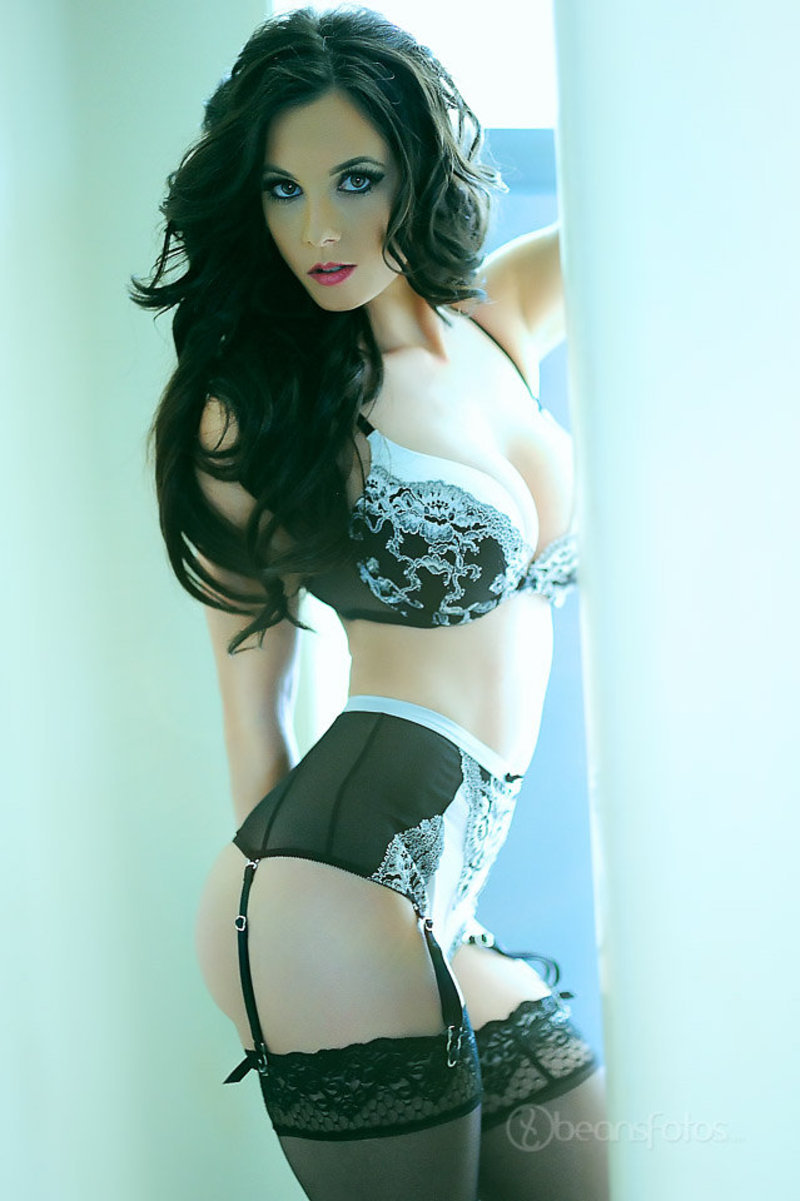 cool glamour in lingerie